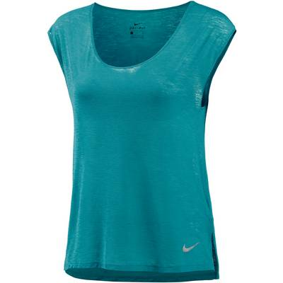 Nike Breathe Cool Laufshirt Damen TURBO GREEN