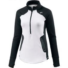 Under Armour Armour Reactor Langarmshirt Damen WHITE/BLACK/WHITE