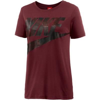 Nike Glacier T-Shirt Damen DARK TEAM RED/DARK TEAM RED/BLACK