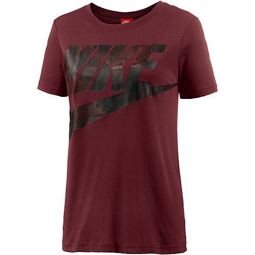 Nike Glacier T-Shirt Damen DARK TEAM RED/DARK TEAM RED/BLACK