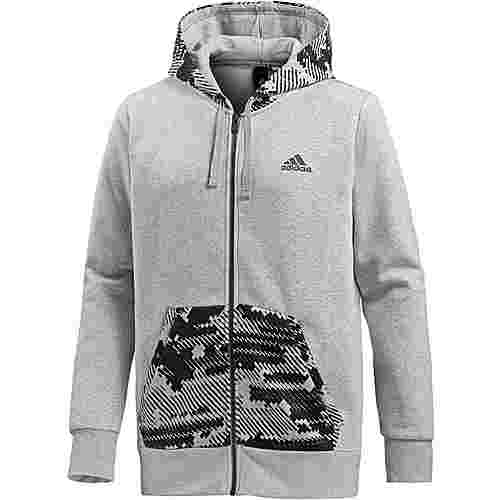 adidas Essential AOP Hoodie Herren medium grey heather