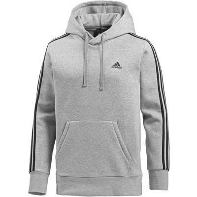 adidas Essential 3S Hoodie Herren medium grey heather