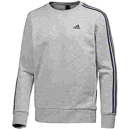 adidas Essential 3S Sweatshirt Herren medium grey heather