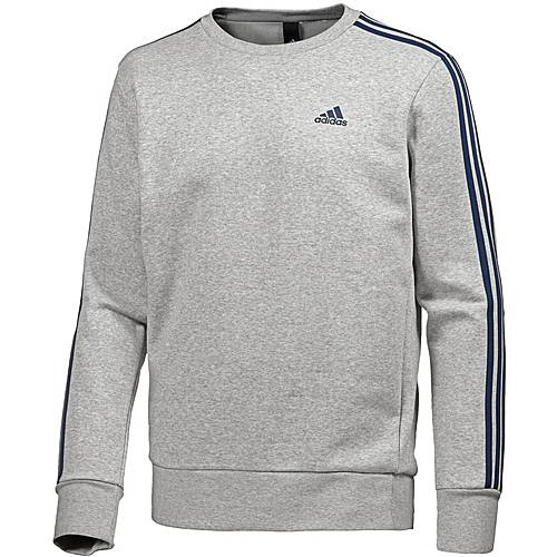 adidas Essential 3S Sweatshirt Herren medium grey heather