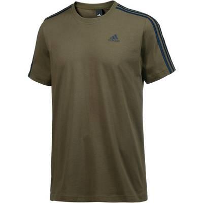 adidas Essential 3S T-Shirt Herren trace olive