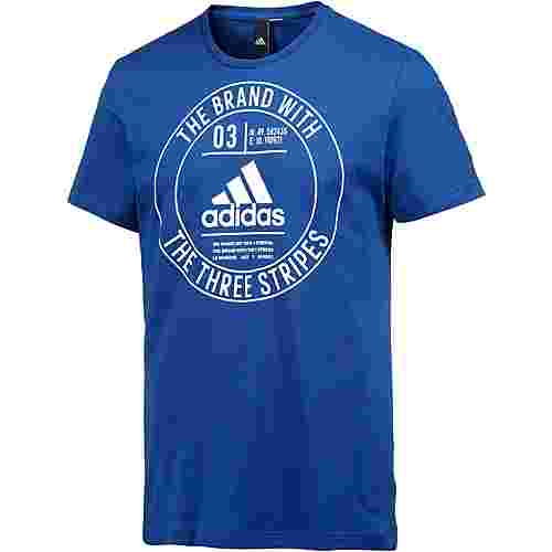 adidas Badge Printshirt Herren collegiate royal