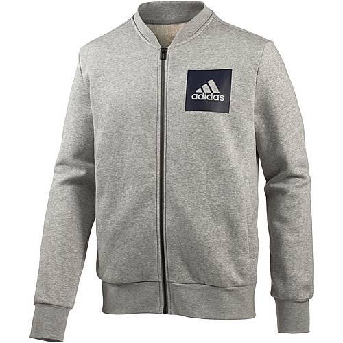 adidas Essential Bomber Sweatjacke Herren medium grey heather