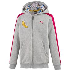 PUMA Minions Sweatjacke Kinder light gray heather