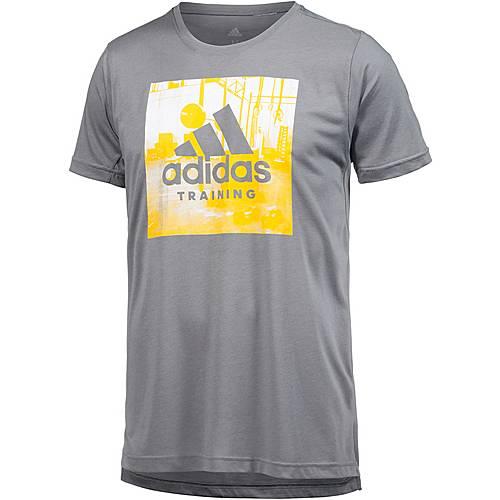 adidas Freelift Logo Funktionsshirt Herren grey three