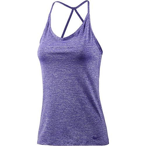 Nike Tuned Cool Funktionstank Damen dunkellila/melange