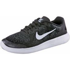 Nike Free RN Laufschuhe Kinder schwarz/weiß