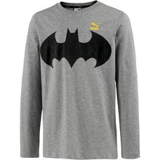 PUMA Batman Langarmshirt Kinder medium gray heather