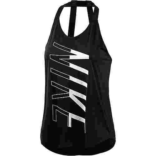 Nike Breathe Elastika Tanktop Damen schwarz/weiß