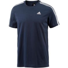 adidas Essential 3S T-Shirt Herren navy