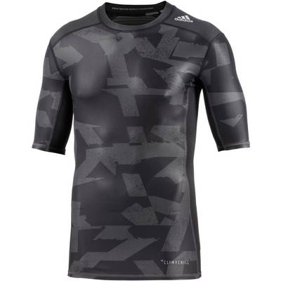 adidas Tech Fit Kompressionsshirt Herren black