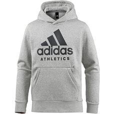 adidas Sport ID Branded Kapuzenpullover Herren medium grey heather