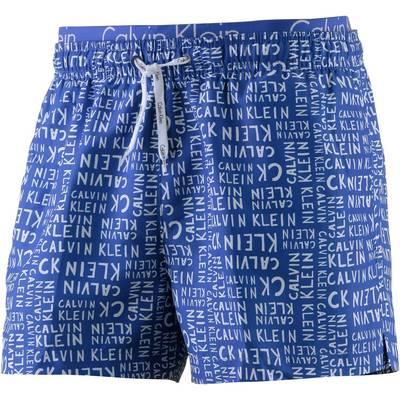 Calvin Klein Id Print Badeshorts Herren blau/weiß