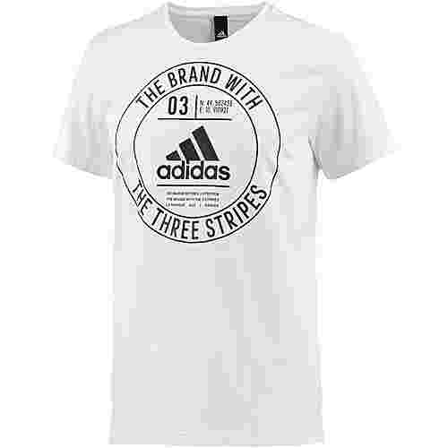 adidas Badge Printshirt Herren white