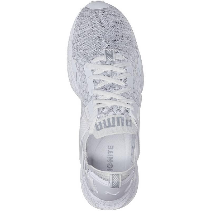 8ec9238e39e PUMA IGNITE evoKNIT Lo Hypernature Sneaker Herren Puma White-Quarry-QUIET  SHADE. Vollbild