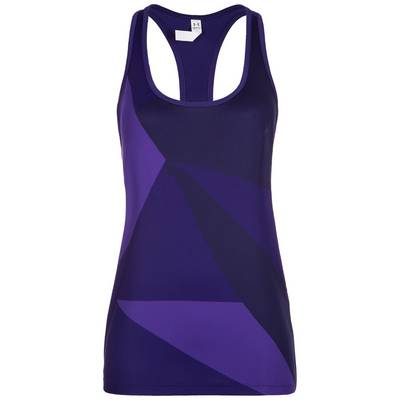 Under Armour HeatGear Geo Funktionstank Damen lila