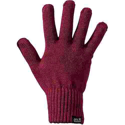 Jack Wolfskin MILTON GLOVE Fingerhandschuhe dark ruby