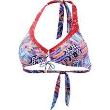 watercult Gypsy Patchwork Bikini Oberteil Damen blau/rot/weiß