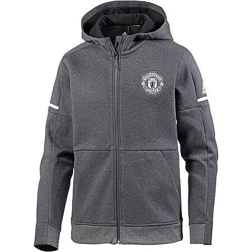 adidas Manchester United Hoodie Herren dark grey heather