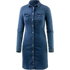 Pepe Jeans Langarmkleid Damen blue denim