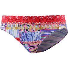 watercult Gypsy Patchwork Bikini Hose Damen blau/rot/weiß