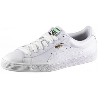 PUMA Basket Classic LFS Sneaker Herren white-white