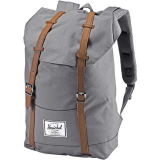 Herschel Rucksack Retreat Daypack grey-tan synthetic leather