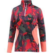 Spyder Showcase Funktionsshirt Damen red camo print/black