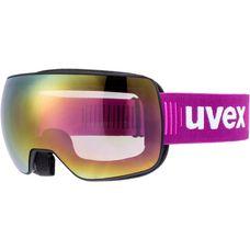 Uvex compact FM Skibrille black mat pink