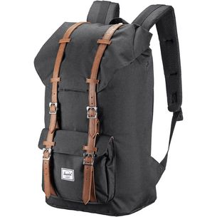 Herschel Little America Daypack black-tan synthetic leather