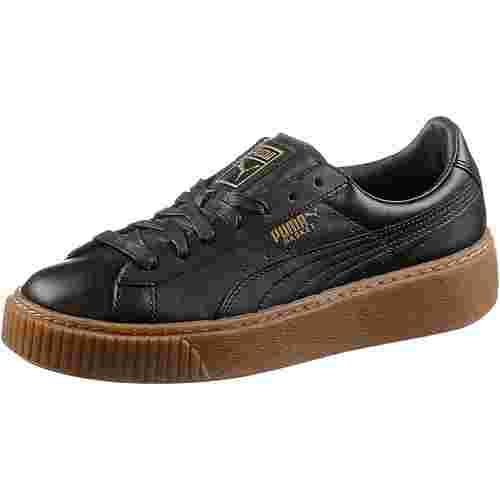 PUMA Basket Platform Sneaker Damen Puma Black-Puma Black