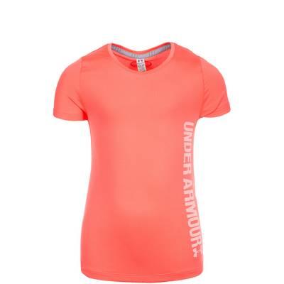 Under Armour HeatGear Armour Funktionsshirt Kinder orange / weiß