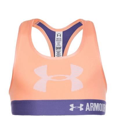 Under Armour HeatGear Graphic Armour Sport-BH Kinder apricot / lila