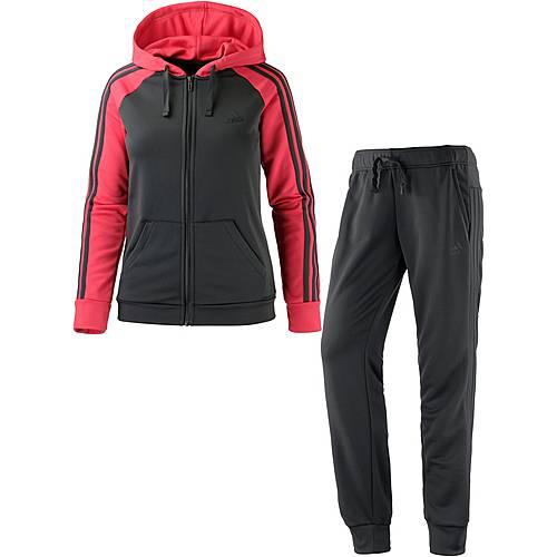 adidas re focus trainingsanzug damen grau pink im online. Black Bedroom Furniture Sets. Home Design Ideas