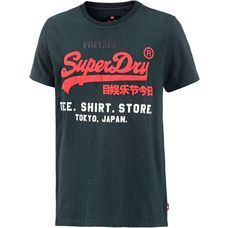 Superdry Printshirt Herren blue bottle grit