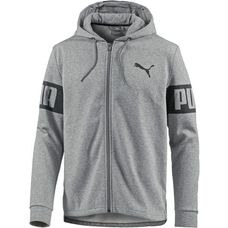 PUMA Sweatjacke Herren Medium Gray Heather