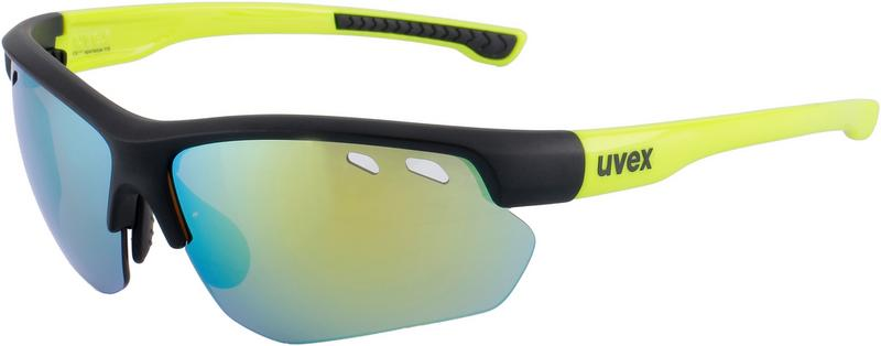 Uvex sportstyle 115 Sportbrille black mat yellow