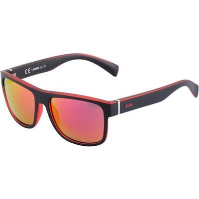 Uvex lgl 21 Sonnenbrille schwarz/rot