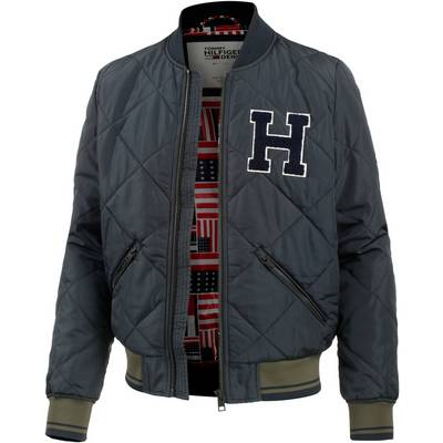 tommy hilfiger bomberjacke herren dunkelblau im online. Black Bedroom Furniture Sets. Home Design Ideas