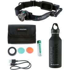 Led Lenser Set MH10 Flasche M5 Stirnlampe LED schwarz