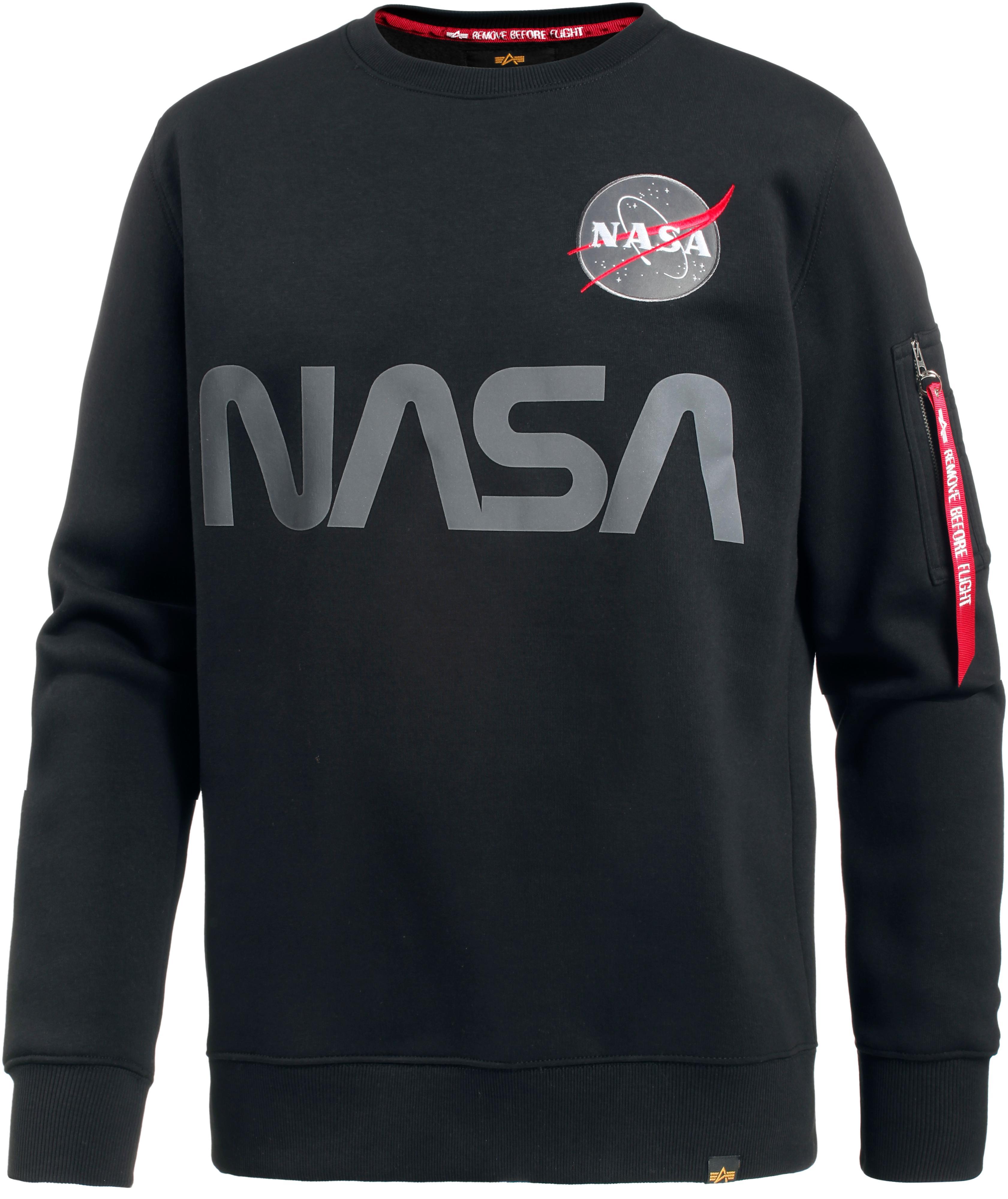 Alpha Industries NASA Sweatshirt Herren black im Online Shop von SportScheck kaufen