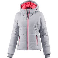 Superdry Sports Puffer Steppjacke Damen light grey marl/fluro coral