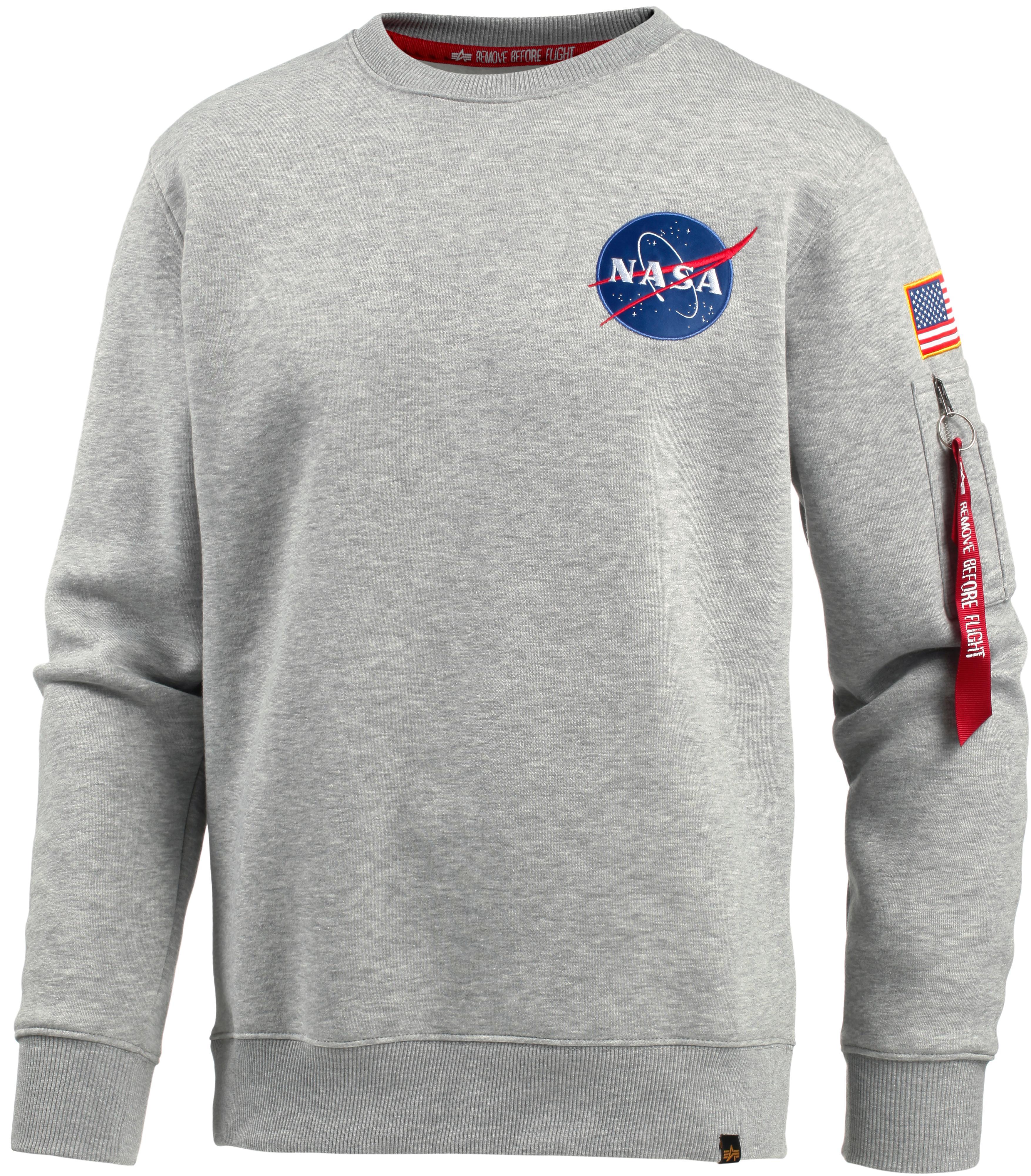best sneakers de58e fad1e Alpha Industries NASA Sweatshirt Herren grey heather im Online Shop von  SportScheck kaufen