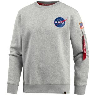 Alpha Industries NASA Sweatshirt Herren grey heather