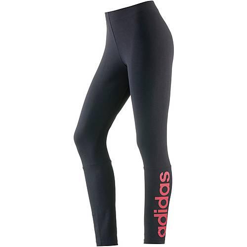 adidas Essentials Leggings Damen schwarz/pink