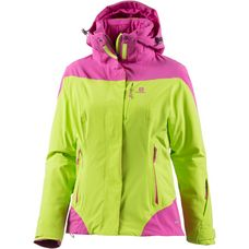 Salomon Icerocket Skijacke Damen acid lime/rose v